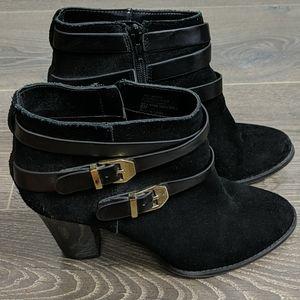 Inc black booties size 8